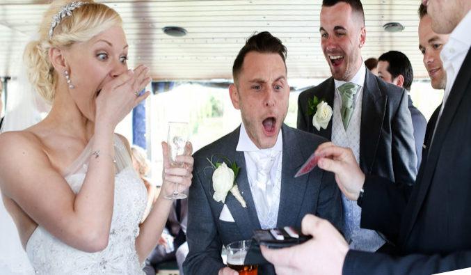 tour de magie pour les mariés