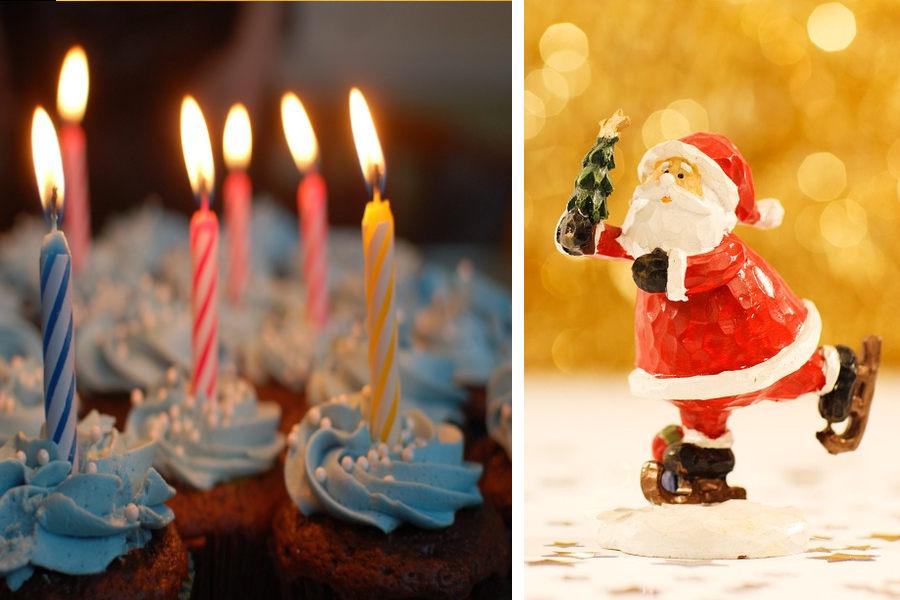 Différence noël et anniversaire